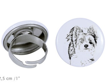 Ring with a dog- Biewer Terrier