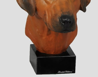 Rodesian Rhidgeback, dog marble statue, painted, limited edition, make your own statue, ArtDog