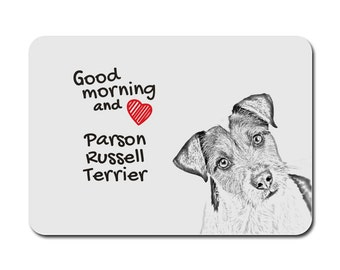 Parson Russell terrier , A mouse pad with the image of a dog. Collection!