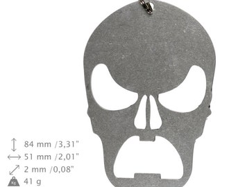 NEW, Skull 2 (mad), bottle opener, stainless steel, different shapes, limited edition