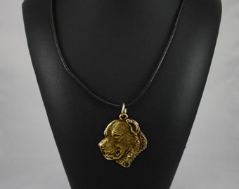 Central Asian Shepherd Dog, millesimal fineness 999, dog necklace, limited edition, ArtDog