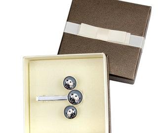 Dalmatian. Jewelry for dog lovers. Cufflinks and tie pin . Photo jewellery. Men's jewellery. Handmade