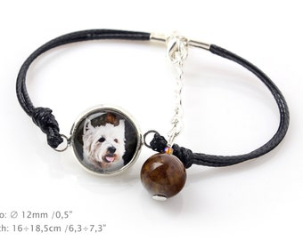 West Highland White Terrier . Bracelet for people who love dogs. Photojewelry. Handmade.