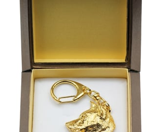 NEW, Shiba Inu, millesimal fineness 999, dog keyring, in casket, keychain, limited edition, ArtDog . Dog keyring for dog lovers