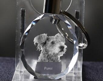 Pumi  , Dog Crystal Keyring, Keychain, High Quality, Exceptional Gift . Dog keyring for dog lovers