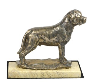 Rottweiler , dog sand marble base statue, limited edition, ArtDog. Made of cold cast bronze. Perfect gift. Limited edition