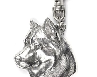 NEW, Siberian Husky, dog keyring, key holder, limited edition, ArtDog . Dog keyring for dog lovers