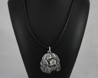 Cavalier King Charles Spaniel, dog necklace, limited edition, ArtDog