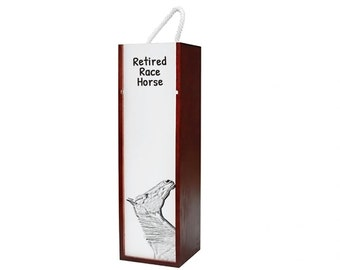 Retired Race Horse - Wine box with an image of a horse.