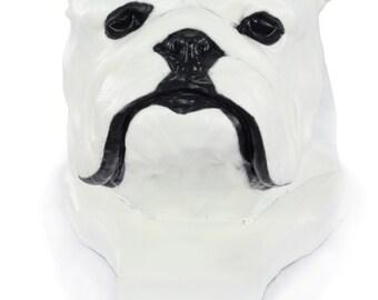 English Bulldog, color, dog big head statue, limited edition, ArtDog