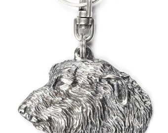 NEW, Irish Wolfhound, dog keyring, key holder, limited edition, ArtDog . Dog keyring for dog lovers