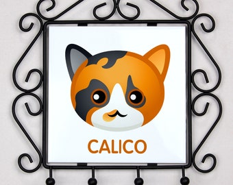 A key rack, hangers with Calico cat. A new collection with the cute Art-dog cat