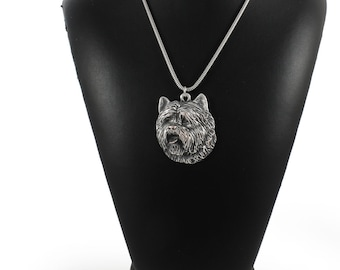 NEW, Cairn Terrier, dog necklace, silver cord 925, limited edition, ArtDog