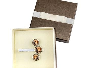 Bullmastiff. Jewelry for dog lovers. Cufflinks and tie pin . Photo jewellery. Men's jewellery. Handmade