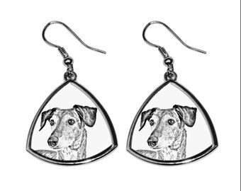 Sloughi- NEW collection of earrings with images of purebred dogs, unique gift