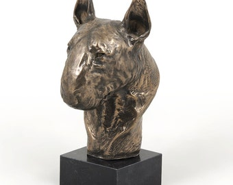 Bull Terrier, dog marble statue, limited edition, ArtDog. Made of cold cast bronze. Perfect gift. Limited edition