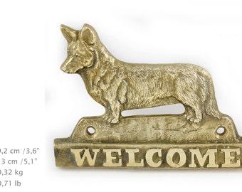 Cardigan Welsh Corgi, dog welcome, hanging decoration, limited edition, ArtDog