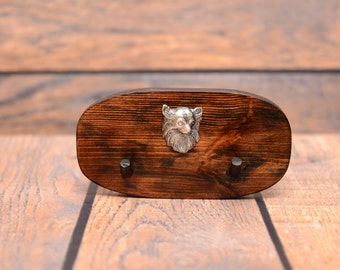 Chihuahua - Unique wooden hanger with a relief of a purebred dog. Perfect for a collar, harness or leash.