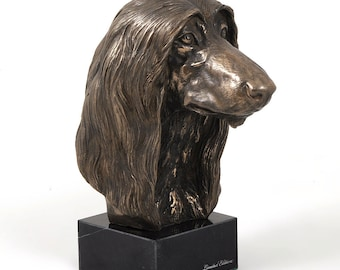 Afghan Hound, dog marble statue, limited edition, ArtDog. Made of cold cast bronze. Perfect gift. Limited edition