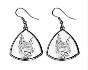 Australian Kelpie- NEW collection of earrings with images of purebred dogs, unique gift