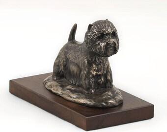 West Highland White Terrier, dog wooden base statue, limited edition, ArtDog