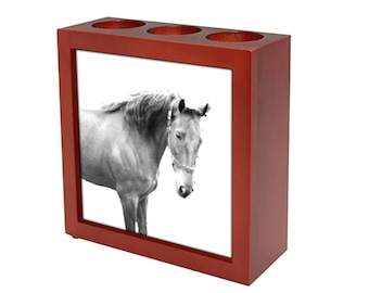 American Saddlebred -  Wooden stand for candles/pens with the image of a Horse ! NEW COLLECTION!