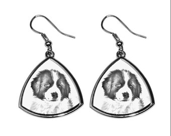 Tornjak- NEW collection of earrings with images of purebred dogs, unique gift