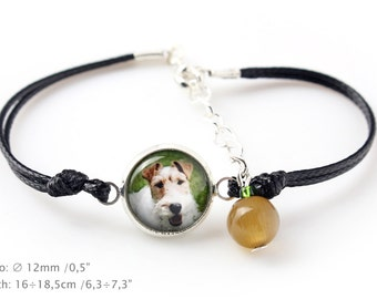 Fox Terrier. Bracelet for people who love dogs. Photojewelry. Handmade.