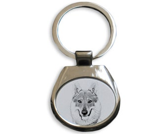Czechoslovakian Wolfdog - NEW collection of keyrings with images of purebred dogs, unique gift, sublimation . Dog keyring for dog lovers