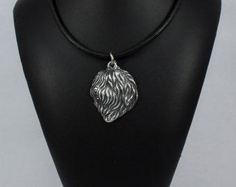Polish Lowland Sheepdog (PON), dog necklace, limited edition, ArtDog