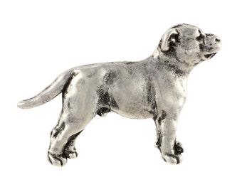 Staffy/Staffordshire Bull Terrier body, dog pin, limited edition, ArtDog
