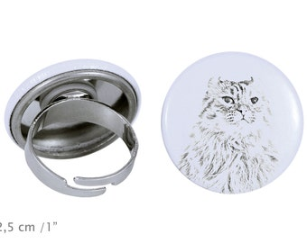Ring with a cat -American Curl