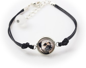 Border terier. Bracelet for people who love dogs. Photojewelry. Handmade.