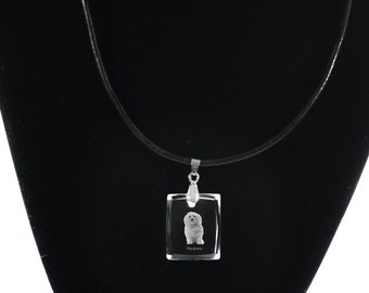 Havanese  - Dog Crystal Necklace, Pendant, High Quality, Exceptional Gift, Collection!