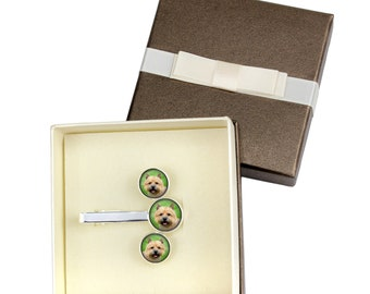 Norwich Terrier. Jewelry for dog lovers. Cufflinks and tie pin . Photo jewellery. Men's jewellery. Handmade