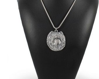 NEW, Chow Chow, dog necklace, silver chain 925, limited edition, ArtDog