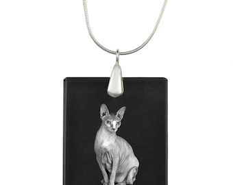 Sphynx cat,  cat Crystal Pendant, SIlver Necklace 925, High Quality, Exceptional Gift, Collection!