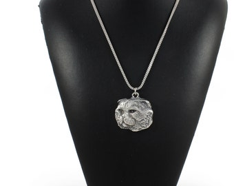 NEW, Cat, cat necklace, silver chain 925, limited edition, ArtDog