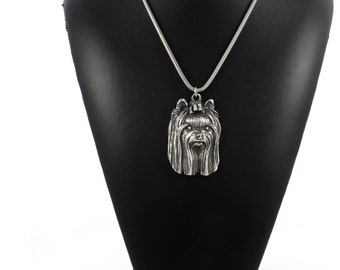 NEW, York Terrier, dog necklace, silver cord 925, limited edition, ArtDog