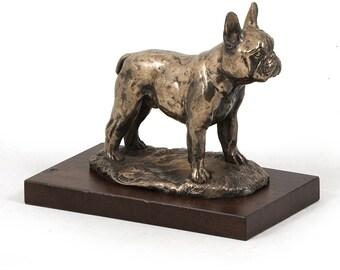 French Bulldog, dog wooden base statue, limited edition, ArtDog