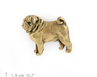 Pug, millesimal fineness 999, dog pin, limited edition, ArtDog