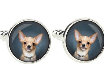 Chihuahua smooth haired. Cufflinks for dog lovers. Photo jewellery. Men's jewellery. Handmade