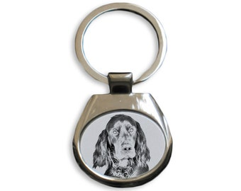 Gordon Setter - NEW collection of keyrings with images of purebred dogs, unique gift, sublimation . Dog keyring for dog lovers