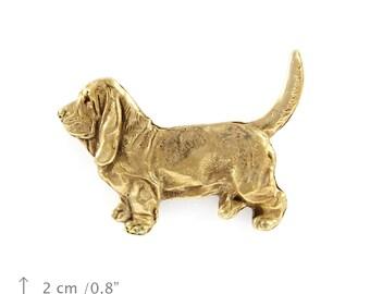 Basset Hound, millesimal fineness 999, dog pin, limited edition, ArtDog