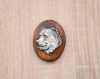 Central Asian Shepherd Dog, Canarian Molosser, dog show ring clip/number holder, limited edition, ArtDog