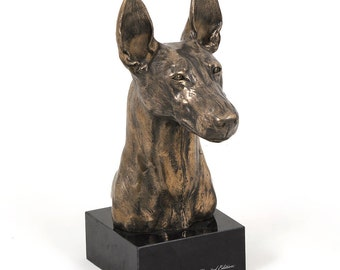 Pharaon Hound, dog marble statue, limited edition, ArtDog. Made of cold cast bronze. Perfect gift. Limited edition