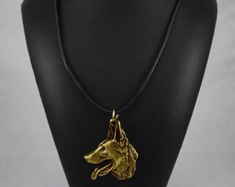 Malinois, millesimal fineness 999, dog necklace, limited edition, ArtDog