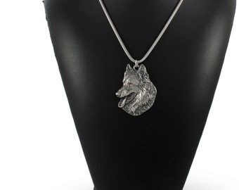 NEW, Belgian Shephard, dog necklace, silver cord 925, limited edition, ArtDog