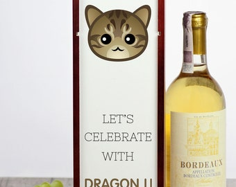 Let's celebrate with Dragon Li cat. A wine box with the cute Art-Dog cat