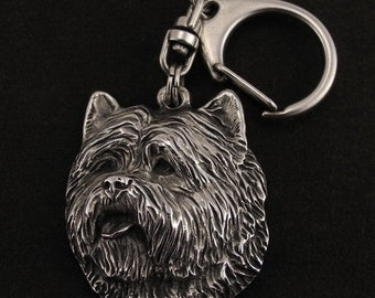 Cairn Terrier, dog keyring, keychain, limited edition, ArtDog . Dog keyring for dog lovers